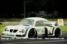 VW Beetle-Checy V8 . Mick Hill Super Saloon . Photo .Mick Hill.  Donington 1977.